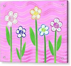 Freckled Floral Garden Acrylic Print by Irina Sztukowski