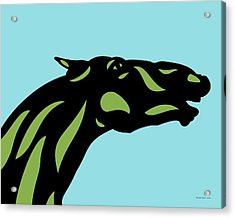 Fred - Pop Art Horse - Black, Greenery, Island Paradise Blue Acrylic Print