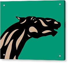 Fred - Pop Art Horse - Black, Hazelnut, Emerald Acrylic Print