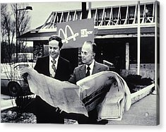 Fred Turner And Ray Kroc The Executive Acrylic Print by Everett