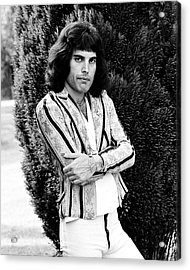 Acrylic Print featuring the photograph Freddie Mercury Of Queen 1975 #2 by Chris Walter