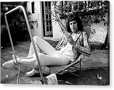 Acrylic Print featuring the photograph Freddie Mercury Of Queen 1975 #3 by Chris Walter