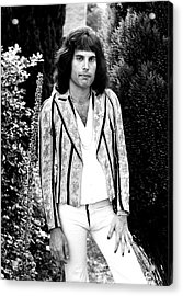 Acrylic Print featuring the photograph Freddie Mercury Of Queen 1975 by Chris Walter