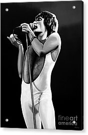 Freddie Mercury On Stage Acrylic Print