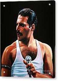 Freddie Mercury Acrylic Print by Paul Meijering