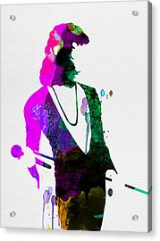 Freddie Watercolor Acrylic Print by Naxart Studio