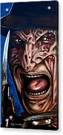 Acrylic Print featuring the painting Freddy Up Close And Personal by Al  Molina