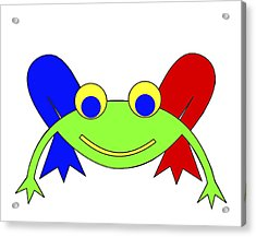 Frederic The Frog Acrylic Print by Asbjorn Lonvig