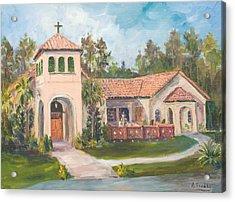 Frederica Presbyterian Church Acrylic Print by Albert Fendig