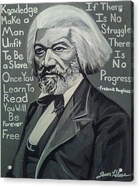 Frederick Douglass Acrylic Print by Jason Majiq Holmes
