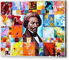 Frederick Douglass Acrylic Print by John Lautermilch