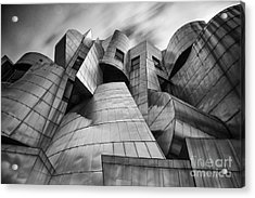 Frederick R Weisman Art Museum Minneapolis Bw Acrylic Print by Wayne Moran