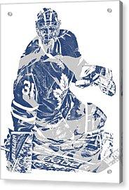 Frederik Andersen Toronto Maple Leafs Pixel Art 1 Acrylic Print
