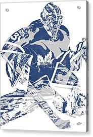 Frederik Andersen Toronto Maple Leafs Pixel Art 2 Acrylic Print