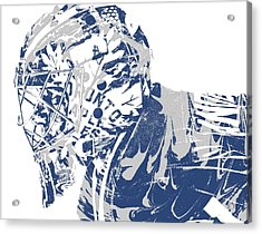 Frederik Andersen Toronto Maple Leafs Pixel Art 3 Acrylic Print