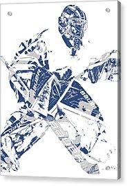 Frederik Andersen Toronto Maple Leafs Pixel Art 4 Acrylic Print
