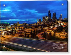 Freeway 5 North To Seattle Acrylic Print