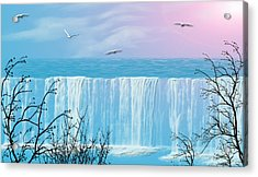 Free Falling Acrylic Print by Evelyn Patrick