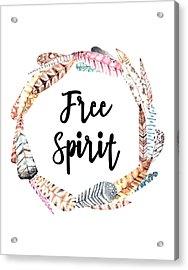 Acrylic Print featuring the digital art Free Spirit by Jaime Friedman