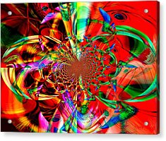 Free The Arts Acrylic Print by Fania Simon