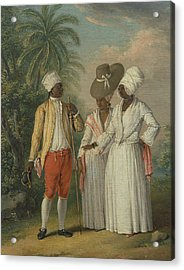 Free West Indian Dominicans Acrylic Print by Agostino Brunias