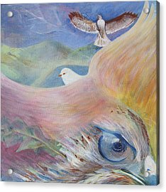 Freedom And Fear Acrylic Print by Claudia Dose