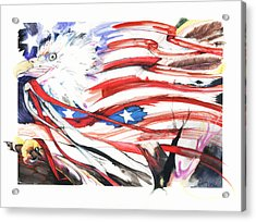Acrylic Print featuring the mixed media Freedom by Anthony Burks Sr