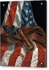 Acrylic Print featuring the painting Freedom by Billie Colson