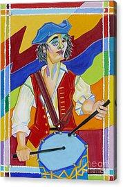 Freedom Drummer Acrylic Print by Loretta Orr