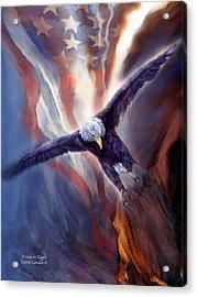 Freedom Eagle Acrylic Print by Carol Cavalaris