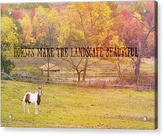 Freedom Farms Quote Acrylic Print by JAMART Photography