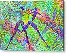 Freedom In The Rain Forest Acrylic Print by Jennifer Baird