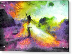 Freedom In The Rainbow Acrylic Print