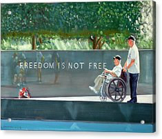 Freedom Is Not Free Acrylic Print by Gordon Bell