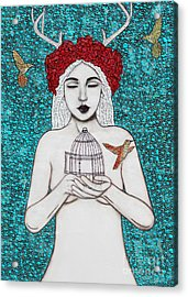 Acrylic Print featuring the mixed media Freedom by Natalie Briney