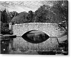 Freedom Park Bridge In Black And White Acrylic Print