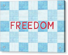 Freedom Patchwork Acrylic Print by Linda Woods