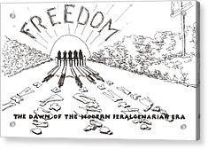 Acrylic Print featuring the drawing Freedom by R  Allen Swezey