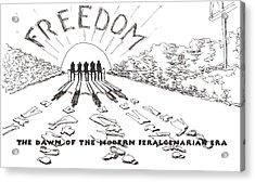 Freedom Acrylic Print by R  Allen Swezey