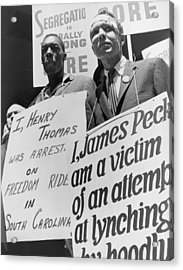 Freedom Riders James Peck, Head Acrylic Print by Everett