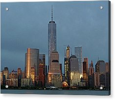 Freedom Tower At Dusk Acrylic Print