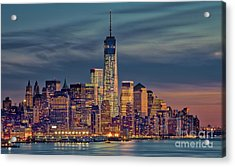 Freedom Tower Construction End Of 2013 Acrylic Print