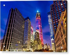 Freedom Tower From The Tribeca Bridge. Acrylic Print