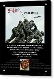 Freedom's Valor II Acrylic Print by Patrick J Maloney