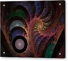 Acrylic Print featuring the digital art Freefall - Fractal Art by NirvanaBlues