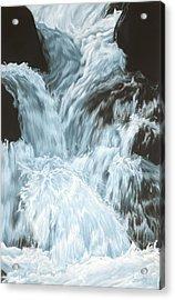 Freefall - Nine Horses Descend The Falls Acrylic Print