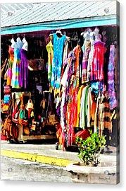 Freeport, Bahamas - Shopping At Port Lucaya Marketplace Acrylic Print by Susan Savad