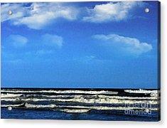 Acrylic Print featuring the digital art Freeport Texas Seascape Digital Painting A51517 by Mas Art Studio
