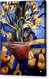 Freesia And Pears Acrylic Print