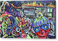 Freestylepainting Acrylic Print by Ottoniel Lima